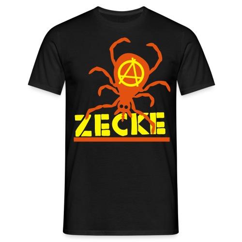 Zecke - schwarz shirt - Männer T-Shirt