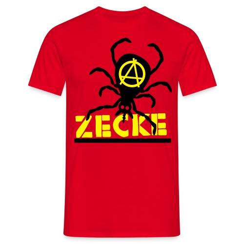 Zecke - rot shirt - Männer T-Shirt