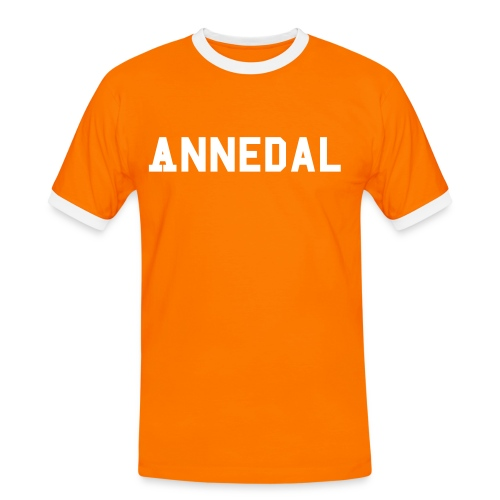 Annedal Orange - Kontrast-T-shirt herr