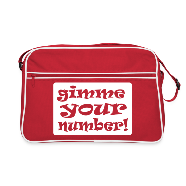 Red/white gimme your number in box Bags