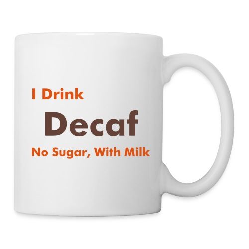 Work Mug - Decaf, no sugar, with milk - Mug