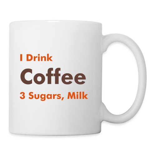 Work Mug - Coffee, 3 sugars, milk - Mug