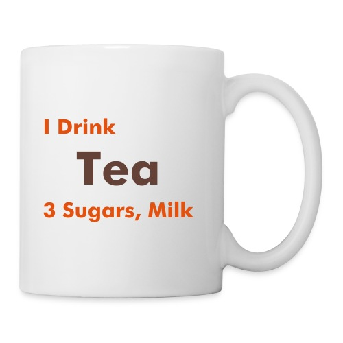Work Mug - Tea, 3 sugars, milk - Mug