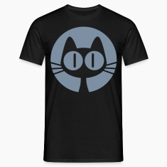 Black Moon Cat Cartoon by Cheerful Madness!! online shop Men's Tees