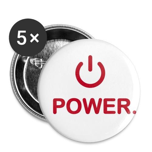 Buttons mittel 32 mm - power button schalte mich ein ich bin ausgepowert klick on off