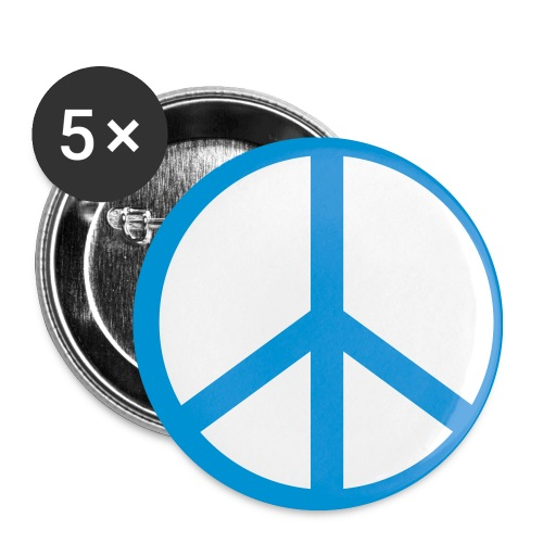 Peace-Button - Buttons mittel 32 mm (5er Pack)