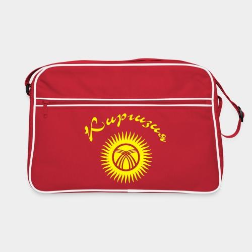 Киргизия (Flockdruck) - Retro Tasche