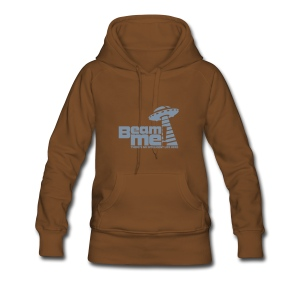 Beam me up! ... No inteligent Life here (silber-matt) - Frauen Premium Hoodie