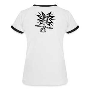 Frauenshirt mit Rückendruck - Frauen Kontrast-T-Shirt