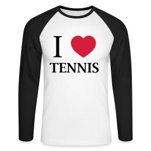 I love tennis - Men's Long Sleeve Baseball T-Shirt