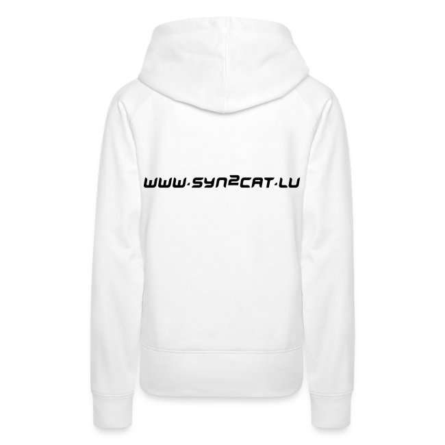 Japanese syn2cat women's hoody (white edition)