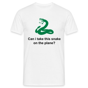 Can i take this snake on the plane? - Men's T-Shirt