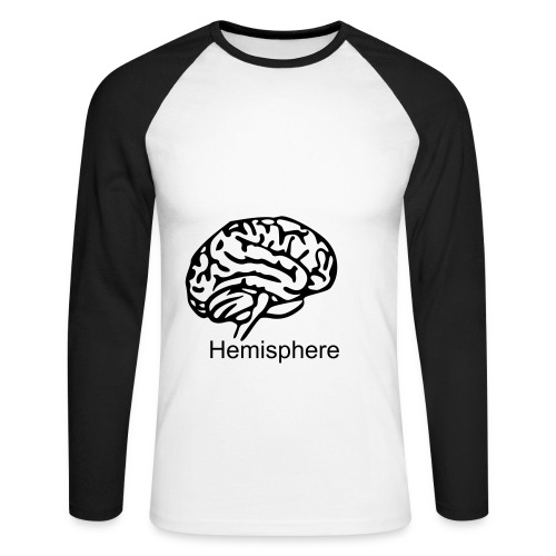 Brain - Men's Long Sleeve Baseball T-Shirt