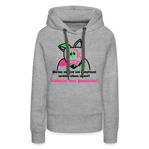 Bunter Bully - grau kapu girlie - Frauen Premium Hoodie