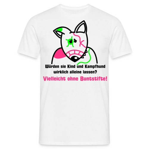 Bunter Bully - weiß shirt - Männer T-Shirt