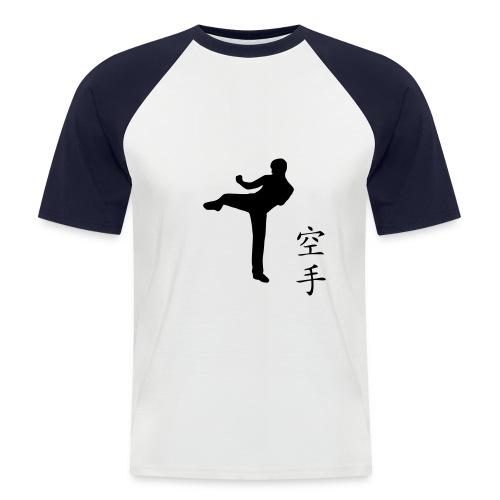 T-Shirt - karate - Koszulka bejsbolowa męska