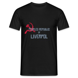 Liverpol, mens, silver text, any colour. - Men's T-Shirt