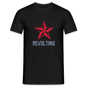 Revolting, mens, silver text, any colour. - Men's T-Shirt