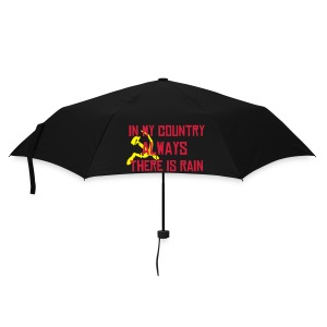 In my Country, always there is rain, red text, umbrella. - Umbrella (small)