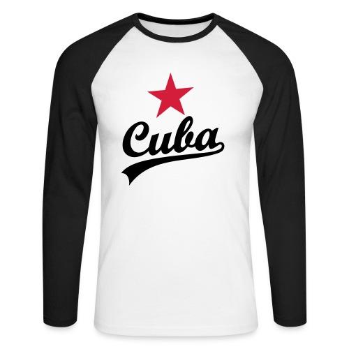 CUBA - Männer Baseballshirt langarm