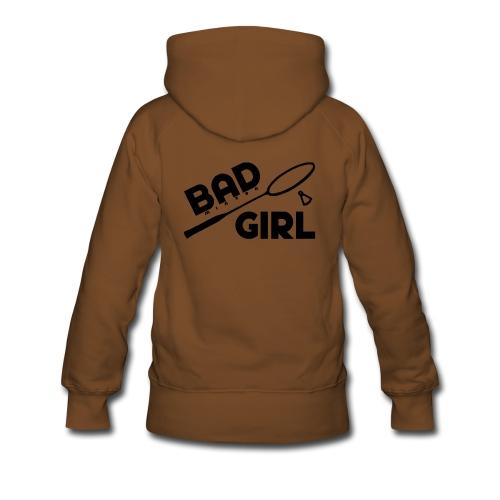 Badminton girl - Sweat-shirt à capuche Premium pour femmes