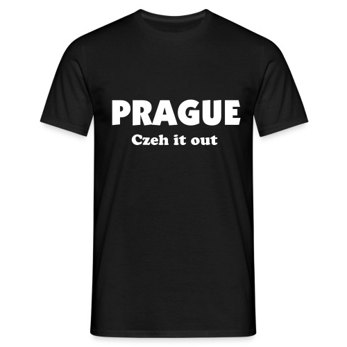 Black Prague-Czech it out mens tee - Men's T-Shirt