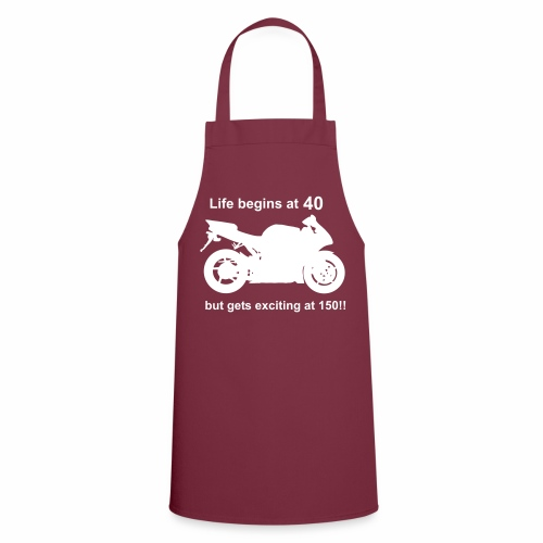 Life begins at 40 Cooking Apron - Cooking Apron