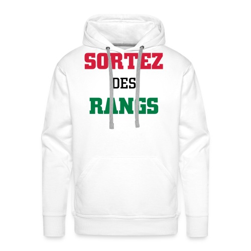 Sortez des Rangs sweat colors - Men's Premium Hoodie