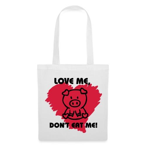 love me don't eat me bag - Tygväska