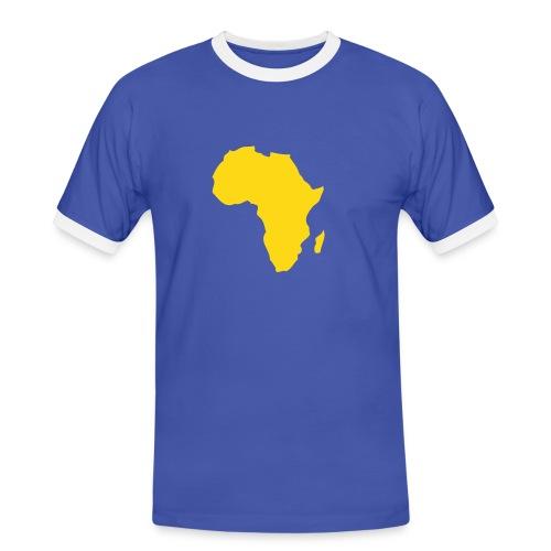 Africa 2 - Koszulka męska z kontrastowymi wstawkami