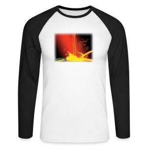 LangarmShirt BurningEarth - Männer Baseballshirt langarm