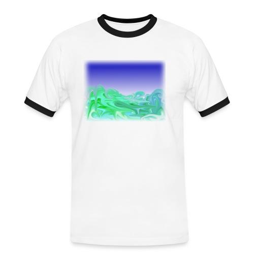 KontrastShirt Waves - Männer Kontrast-T-Shirt