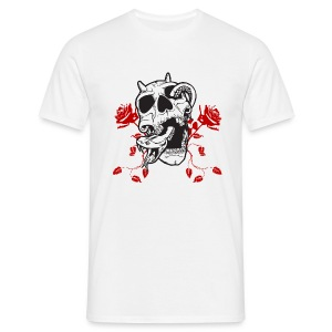 Blanc Death and Roses T-shirts - T-shirt Homme