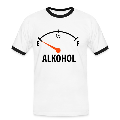 FillUP - Männer Kontrast-T-Shirt