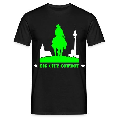 Big City Cowboy Black - Mannen T-shirt