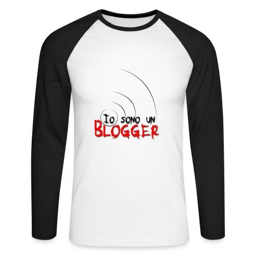 T-Shirt da blogger - Maglia da baseball a manica lunga da uomo