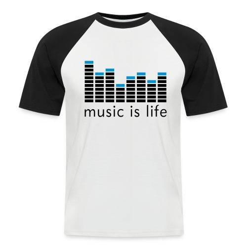 Music is Life - Kortermet baseball skjorte for menn