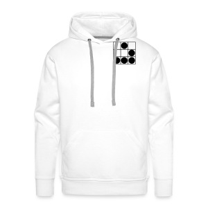 Belonging to the Hacker Community (white edition) - Men's Premium Hoodie