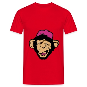 T-shirt homme monkey rouge - T-shirt Homme