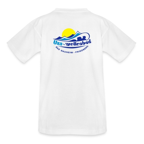 Kinder T-Shirt Usa-Wellenbad - Teenager T-Shirt