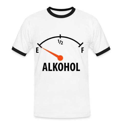 Alkohol - Herre kontrast-T-shirt