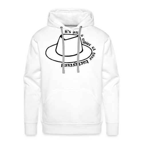 A matter of your background (whitehat edition) - Men's Premium Hoodie