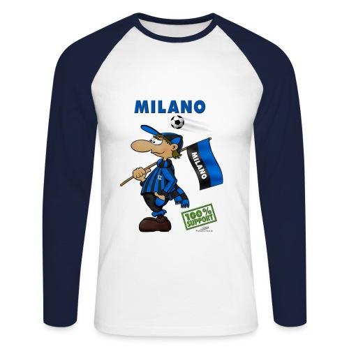 Fanshirt Milano - Männer Baseballshirt langarm