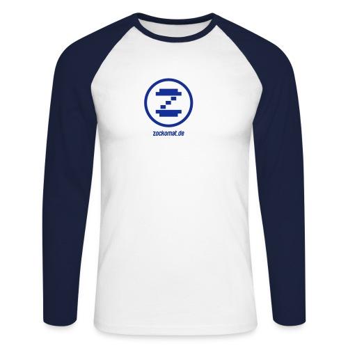Zockomat Blue Sleeves - Männer Baseballshirt langarm