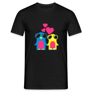 Pinguin Love - Mannen T-shirt