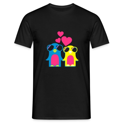 Pinguin Love - Mannen T-shirt
