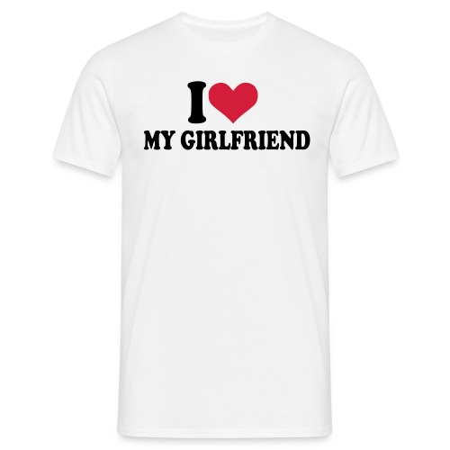 I love my girlfriend (Domina) - Männer T-Shirt