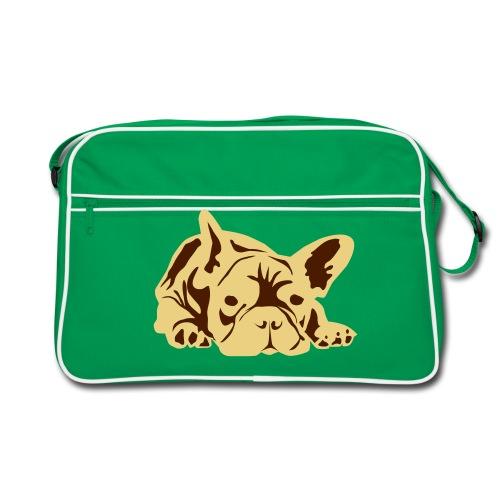 Ranskanbulldoggi laukku ruskea - Retrolaukku