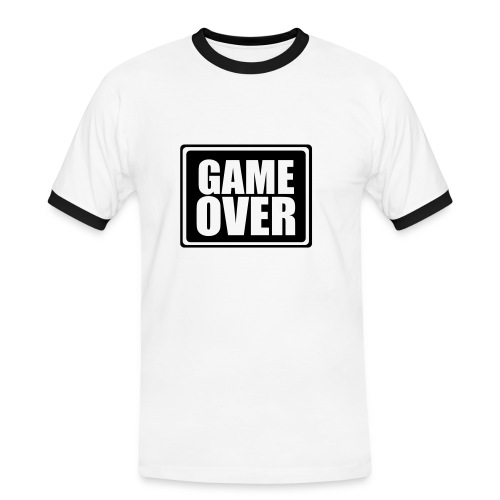 Game over man - Miesten kontrastipaita