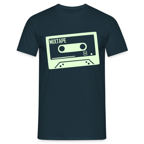 MIXTAPE Navy style - Herre-T-shirt
